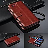 Aobiny Cell Phone Cover Luxury Flip Wallet Stand Leather Case for Sony Xperia Z2 mini