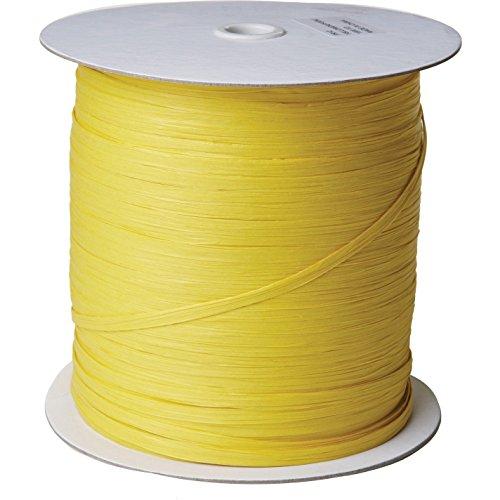 Jillson & Roberts Paper Raffia Ribbon, 1/4'' Wide x 1000 Yards, Yellow by Jillson Roberts