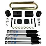 "Bilstein Shocks 5100 Series + Full F250 F350 Super Duty Lift Kit 3"" Front Lift Coil Spring Spacers + 1"" Rear Lift Billet Blocks PRO Supreme Suspensions Ford F250 F350 Leveling Kit"