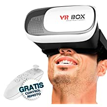LENTES REALIDAD VIRTUAL 3D VR BOX CONTROL REMOTO BLUETOOTH