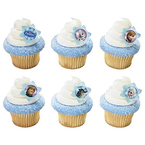 A Birthday Place Disney's Frozen 12 Count Cupcake Rings, Assorted -