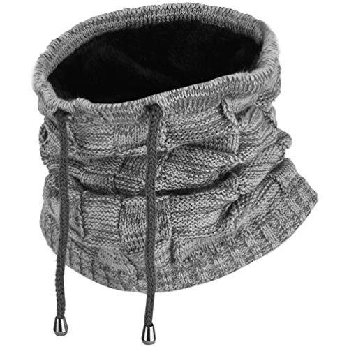 51gvmGzcSpL. SS500 Excelente función de mantenimiento del calor: esta cálida polaina para el cuello es perfecta para climas fríos, diseño de doble capa con fibras acrílicas de alta calidad y forro polar, agradable al tacto, ultrasuave y cómoda de llevar, y cuenta con una mejor retención de calor para mantener el calor. Diseño versátil: el gorro de punto puede servir no solo como sombrero, sino también como calentador de cuello, diadema y bufanda. La apertura única hace que sea ideal para coleta. Fibras acrílicas y felpa corta