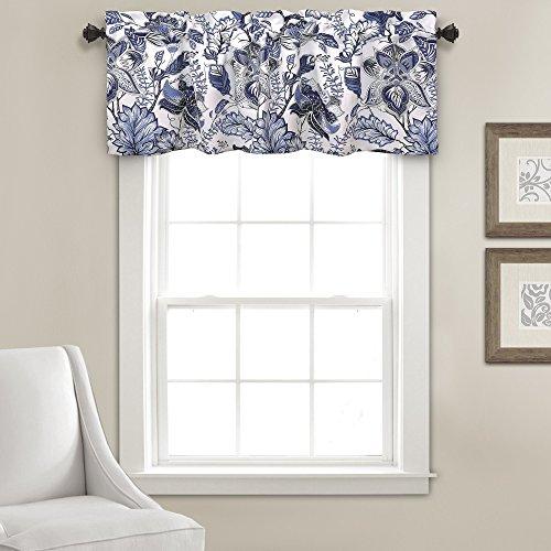 (Lush Decor Cynthia Jacobean Valance Floral Print Single Curtain 18