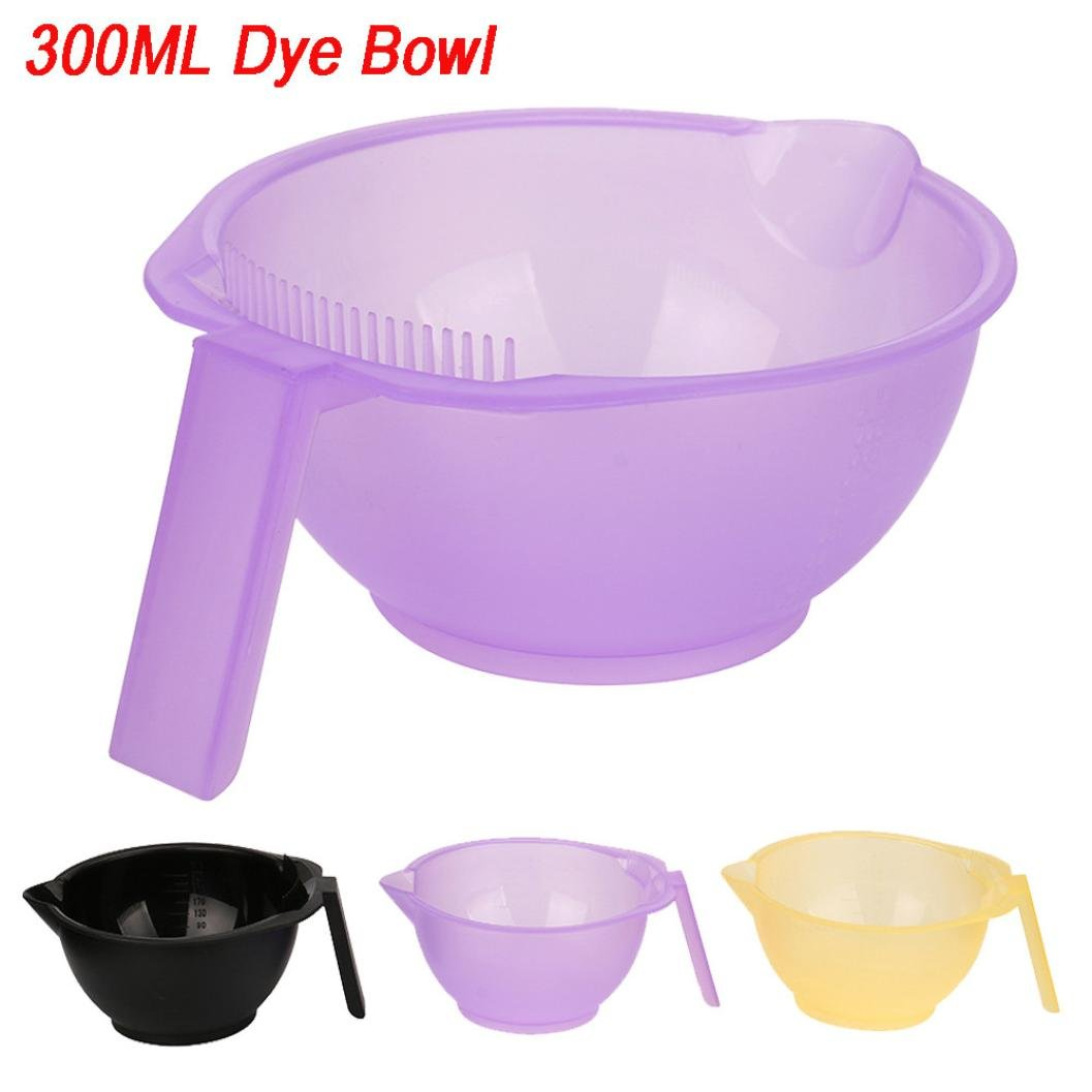 Baomabao 300ML Dyeing Bowl Assorted Salon Dye Seasoning Bowl Plastic Colors Random