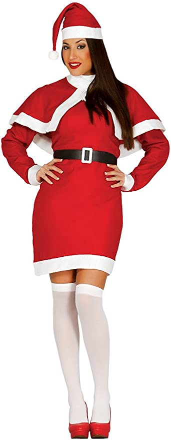 Guirca- Disfraz Mamá Noel adulto, Color rojo, talla L (42693.0 ...