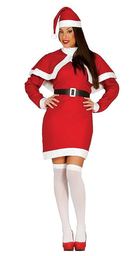 Guirca- Disfraz Mamá Noel adulto, Color rojo, talla L (42693.0)