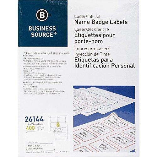 (Business Source Laser/Inkjet Name Badge)