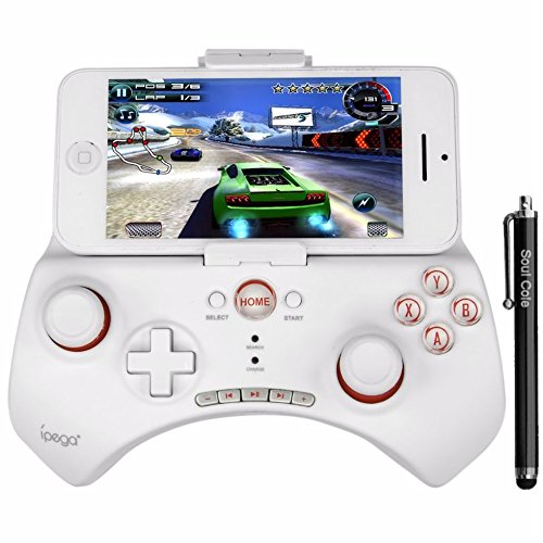 Soul Coule PG 9025 Wireless Bluetooth 3.0 Game Controller Gamepad Joystick for Iphone 5s 5c 5 4s 4 3gs Ipad 5 4 3 Ipad Mini 1 2 Samsung Galaxy S5 S4 S3 S2 Note 3 2 1 Sony Xperia Z2 Z1 Z HTC One M7 M8 Lg Google Nexus and Other Smartphones and Tablects Pc with Android IOS System IPEGA