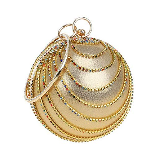 12 Gold1 tout Pour Femme Paillettes Sphérique Soirée Or2 Embrayage 5cm À 12 Diamants De Banquet 25cm 5cm Femmes Fourre Sac Mariage qnHgxw6Rv