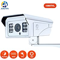 Security Camera, JOOAN 1080TVL CCTV Camera with Fixed 8mm Lens Security System for Indoor / Outdoor Weatherproof Camera with OSD Menu Function