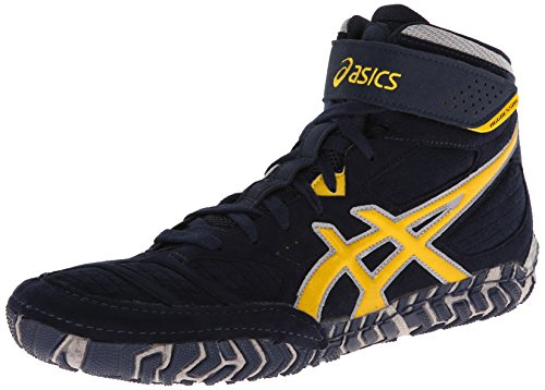 Mens 5 Shoe Aggressor Asics 9 US Navy Silver M Sunflower 2 Wrestling UFqFdf
