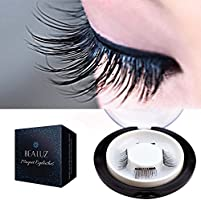 New Dual Magnetic False Eyelashes - 2 Pairs (8 Pieces) Ultra Thin 3D Fiber Reusable Best Fake Lashes Extension for Natural, Perfect for Deep Set Eyes & Round Eyes (8 pcs)