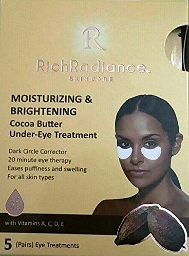 Rico Radiance cuidado de la piel hidratante & Brightening Manteca de Cacao Tratamiento de las ojeras