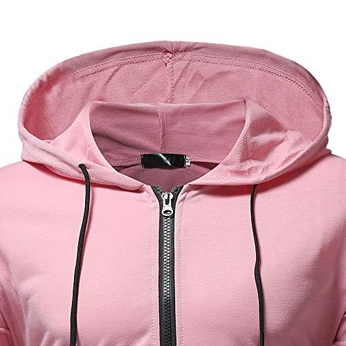 HHei_K Mens Autumn Winter Casual Plain Slim Fit Long Sleeve Full Zipper Coat Pocket Hoodies Sweatshirt Blouse by HHei_K (Image #3)