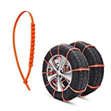 Rupse Anti-skid Emergency Snow Tyre Chains Car Belting Straps 20PCS