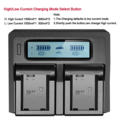NP-FW50 NPFW50 Digita Battery Charger LCD Display Dual Channel Charger for Sony a7II a6000 a7RII a6300 a5100 a7s a7 a7R a7sII Camera