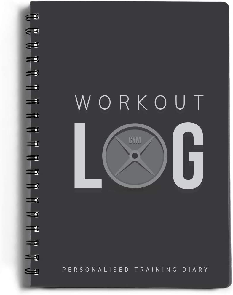 Workout Log Gym - 6 x 8 Inches - Gym, Fitness, and Training Diary - Set Goals, Track 100 Workouts and Record Progress