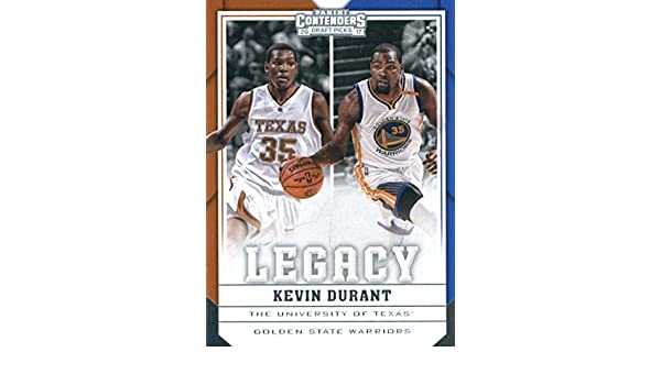 b1c7d5b36 Amazon.com  2017-18 Panini Contenders Draft Picks Legacy  21 Kevin Durant  Golden State Warriors Texas Longhorns  Collectibles   Fine Art