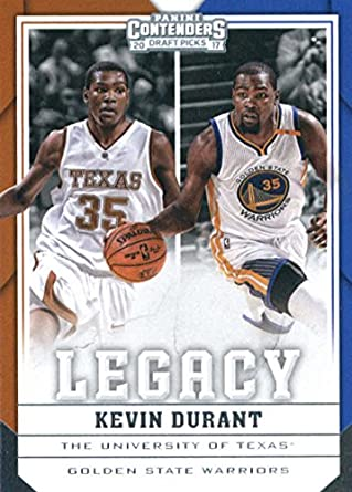 dd109d60b93 Amazon.com  2017-18 Panini Contenders Draft Picks Legacy  21 Kevin Durant  Golden State Warriors Texas Longhorns  Collectibles   Fine Art