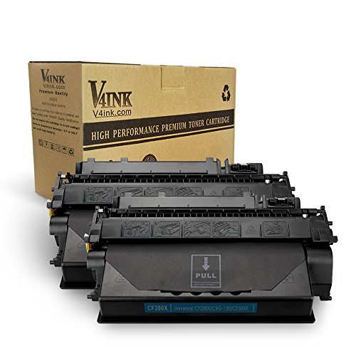 V4INK 2 Pack Compatible Replacement for HP 80X CF280X Toner