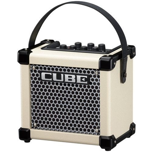 Roland M-CUBE-GXW Micro Cube GX 3W 1x5 Battery Powered Guitar Combo Amp White (Best Micro Amp For Metal)