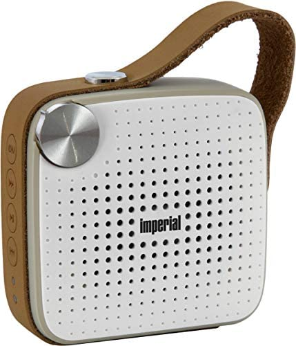 Imperial Bas 4 Mobiler Bluetooth Lautsprecher Musikbox Mit Ukw Radio Bluetooth 4 0 4 Watt Aux Microsd Weiss Braun Audio Hifi