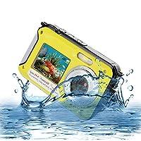Underwater Camera Full Hd 1080P Waterproof Digital Camera 24.0MP Underwater Digital Camera Self Point and Shoot Dual Screen Waterproof Camera