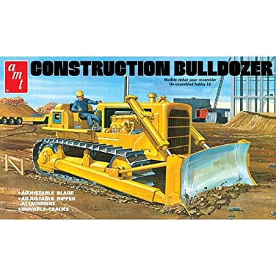 AMT AMT1086 1:25 Construction Bulldozer Model, White: Toys & Games