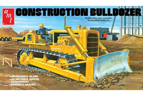 Construction Bulldozer Plastic Model Kit, Paint and Glue Required from AMT