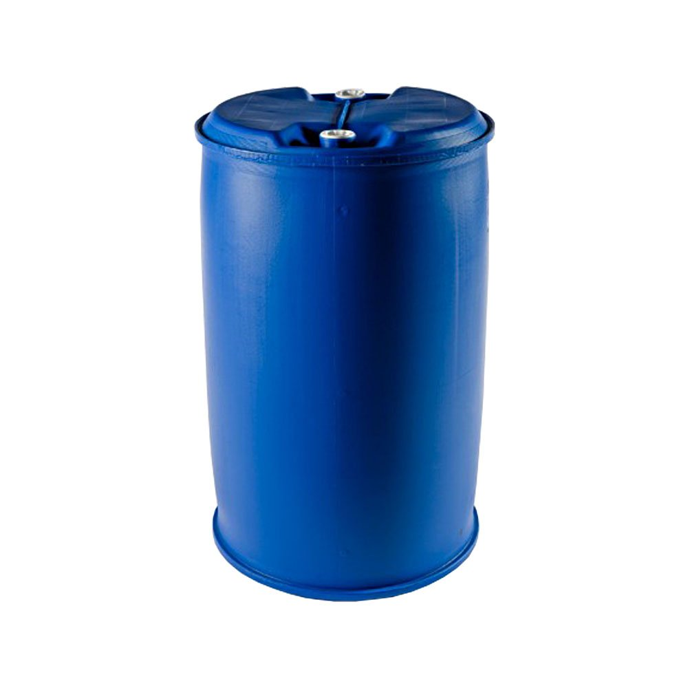 210 Litre Ltr L Plastic Barrel Drum Tighthead UN Approved Twin Ring with Bung for Storage Liquid Paint Oil Raft Building Water Oipps