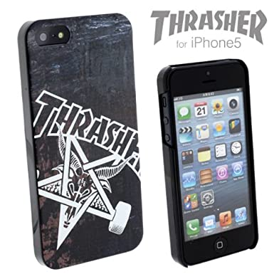 half off abcd5 4c814 Thrasher Plastic Case for iPhone 5/iPhone 5s (Skate Goat): Amazon.co ...
