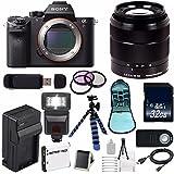 Sony Alpha a7R II Mirrorless Digital Camera (International Model no Warranty) + Sony E-Mount SEL 1855 18-55mm Zoom Lens (Black) + 49mm 3 Piece Filter Kit 6AVE Bundle 7