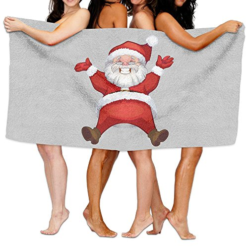 Unisex Santa Claus Christmas Beach Towels Washcloths Bath Towels For Teen Girls Adults Travel Towel Pool And Gym Use 31x51 Inches (7 Cover Wave Table Pool)