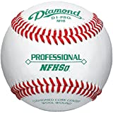 Diamond Nfhs Professional League Leather Baseballs 12 Ball Pack