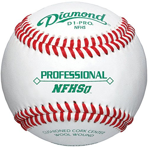 Diamond Nfhs Professional League Leather Baseballs 12 Ball Pack by Diamond Sports