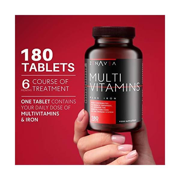 180 Gélules – Multivitamines et Minéraux – Formule Boost Fer et Biotine – Vitamine A B C D E et minéraux – Complement…