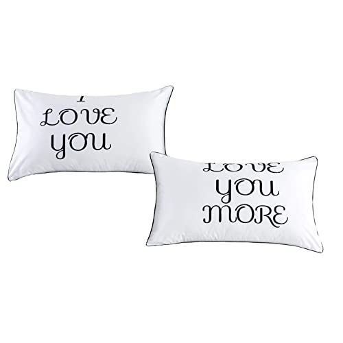 I love you and love you more couples pillowcases,couples / lovers Gift his hers pillowcase( 74*48 Pillowcases)
