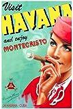 "11""x 14"" Poster. "" Visit havana & enjoy Montecristo "" Travel/Cigar Poster. De..."