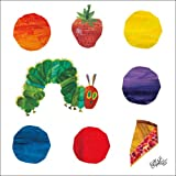 Oopsy Daisy Eric Carle's The Very Hungry Caterpillar and Dots Stretched Canvas Wall Art, 14 by 14-Inch