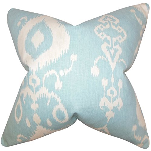 Buy the pillow collection katti ikat euro sham blue