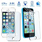 Autolizer Premium Tempered Glass Screen Protector For Apple iPhone 5/5c/5s Protect Your Screen from Scratches and Drops - Maximize Your Resale Value - Crystal Clear and Touchscreen Accuracy - Industry High 9H Hardness