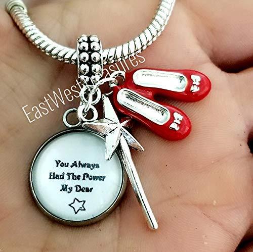9e9aff5711 Amazon.com: Wizard of Oz Charm bracelets and necklace-You've always ...