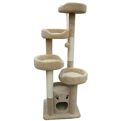 GCHOME Árbol de Gato Árbol de Gato, Corto, Felpa, sisal Natural, Torre