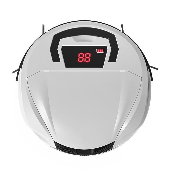 Robot Aspiradora Potente para Limpiar y Barrer Suelo de Mármol, de Parqué y Alfombra Fina, con una Succión Poderosa, Lleva 2 HEPA,10.8V 2100mAh NI-MH, ...