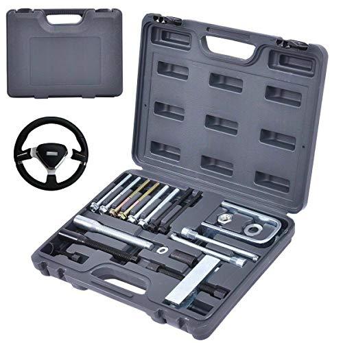Lock Plate Compressor Set - 19 Pcs Steering Wheel Puller& Lock Plate Set Compressor Installer Remover Kit