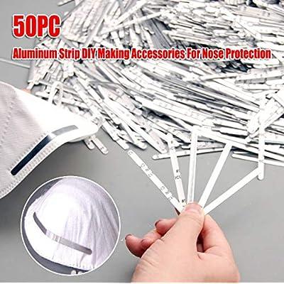 NEWHE 50/100Pcs 85mm Aluminum Strip Straps, Nose Bridge Strips Adhesive Metal Flat Bar Sticks for Face DIY Making Accessories Crafts Handmade Crafting Making Nose Bridge Clip (50 Pack): Sports & Outdoors