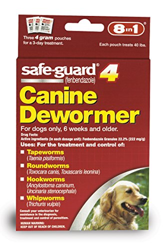 Puppy Package (8in1 Safe-Guard Canine Dewormer for Large Dogs, 3 Day Treatment)