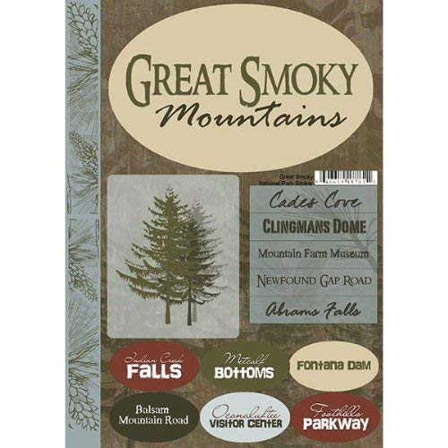 Scrapbook Customs Travel Collection Great Smoky Mountains Cardstock Stickers National Park