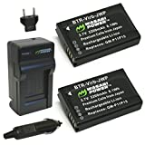Wasabi Power Battery (2-Pack) and Charger for Garmin 010-11654-03 and Garmin Alpha, Montana 600, Montana 600t, Montana 650, Montana 650t, Monterra, VIRB, VIRB Elite