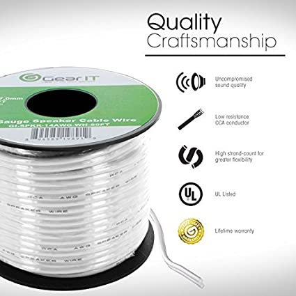 Amazon.com: GearIT 12-Gauge Speaker Wire (50 Feet/15.24 Meters ...
